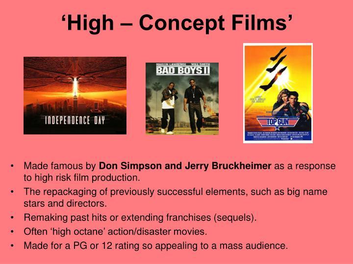 'High – Concept Films'