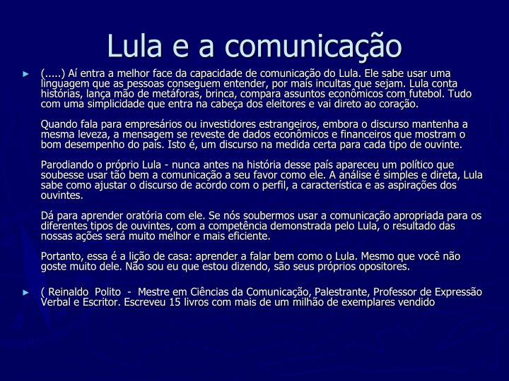 Lula e a comunicação
