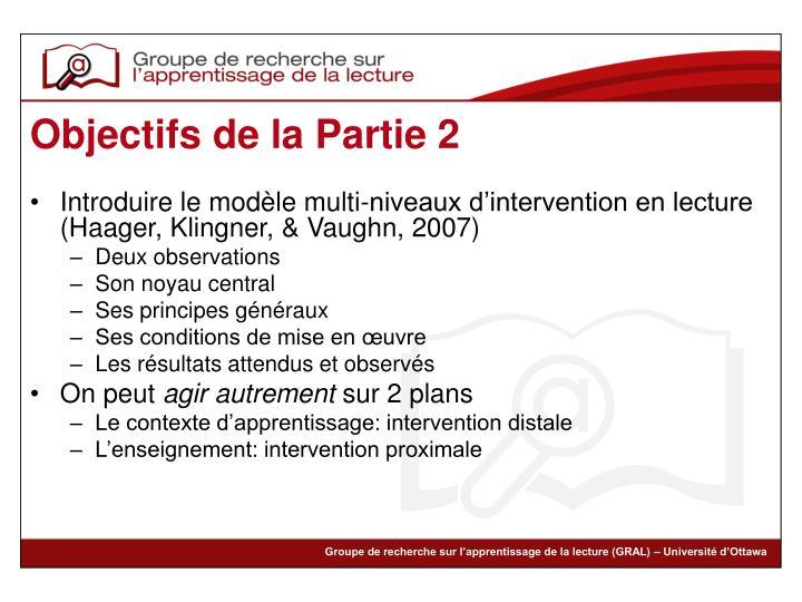 Introduire le modèle multi-niveaux d'intervention en lecture (Haager, Klingner, & Vaughn, 2007)