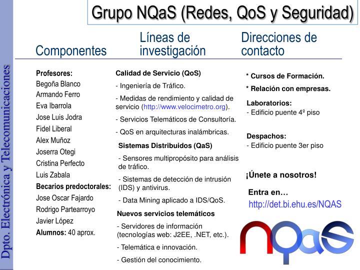 Grupo NQaS (Redes, QoS y Seguridad)