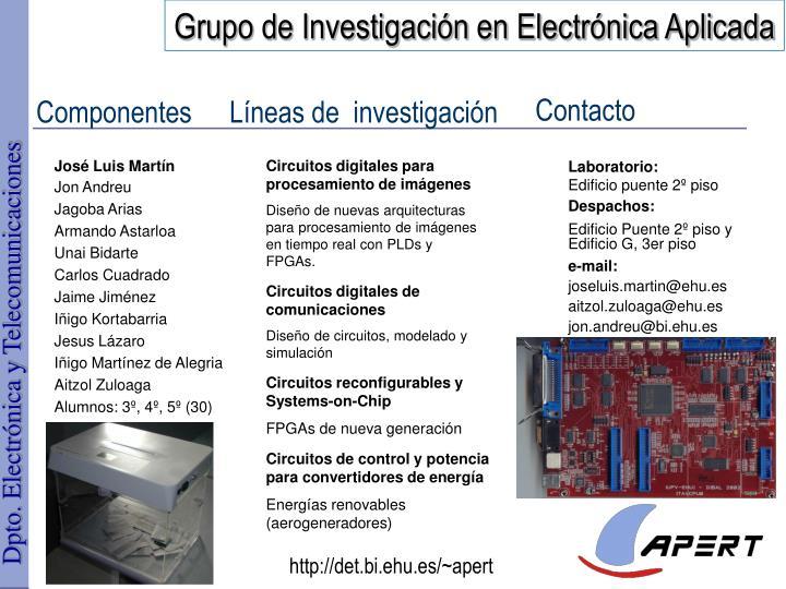 Grupo de Investigación en Electrónica Aplicada