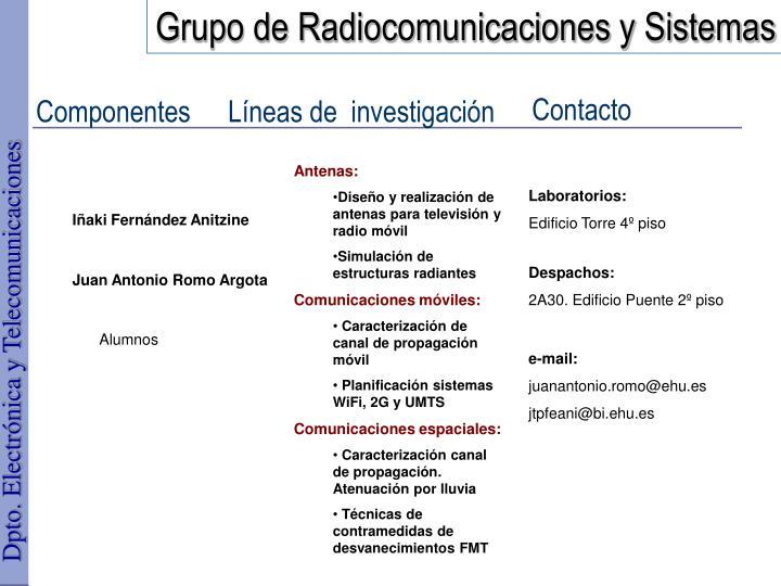 Grupo de Radiocomunicaciones y Sistemas
