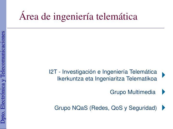 I2T - Investigación e Ingeniería Telemática