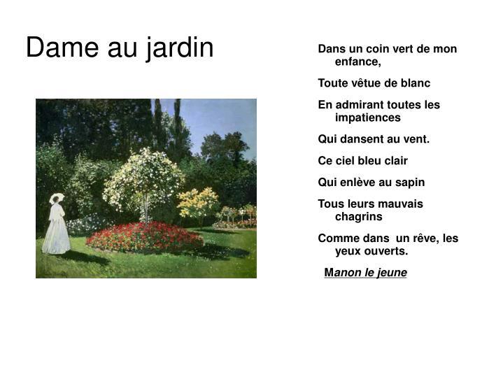 Dame au jardin