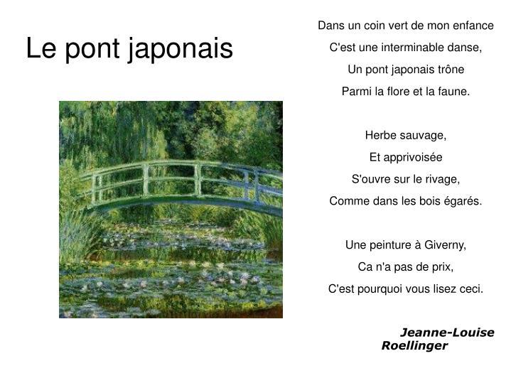 Le pont japonais