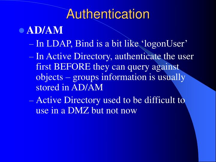 Authentication