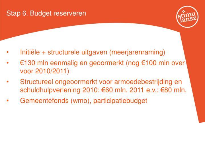 Stap 6. Budget reserveren
