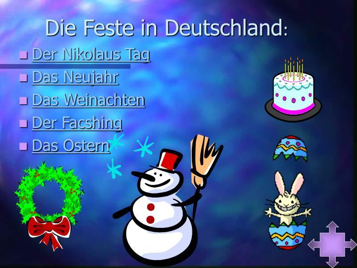 Die Feste in Deutschland