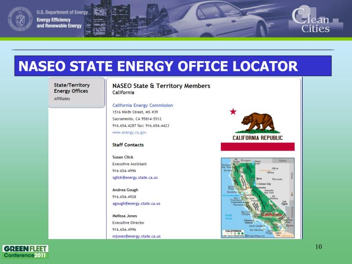 NASEO STATE ENERGY OFFICE LOCATOR