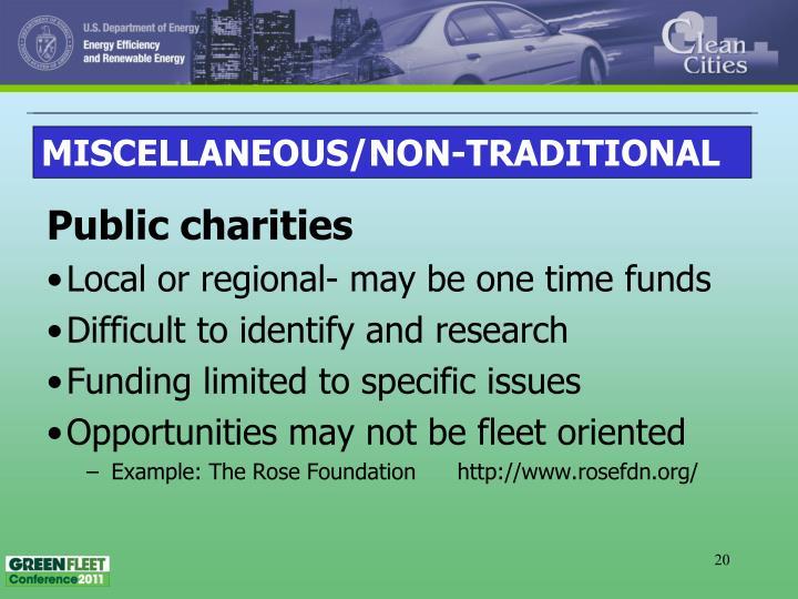 Public charities