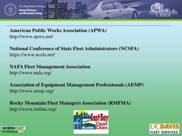 American Public Works Association (APWA)