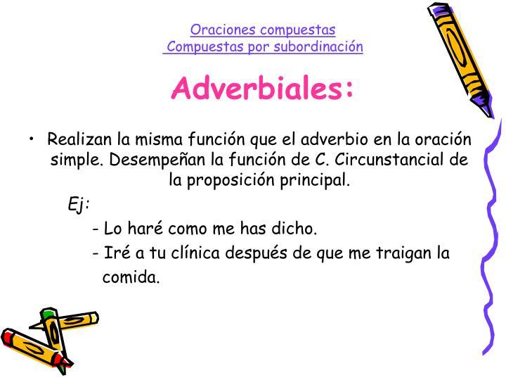 Adverbiales: