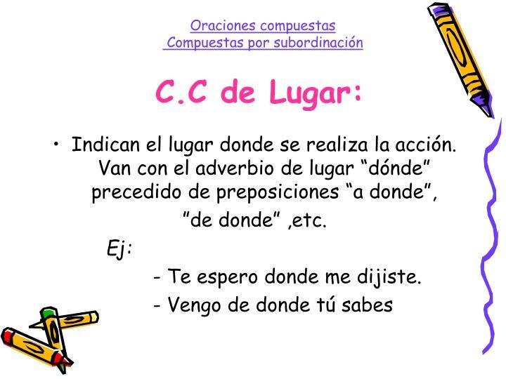 C.C de Lugar: