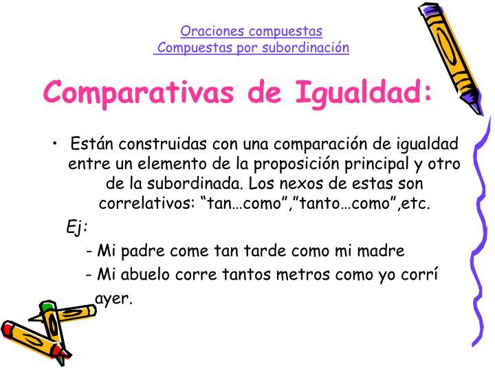 Comparativas de Igualdad: