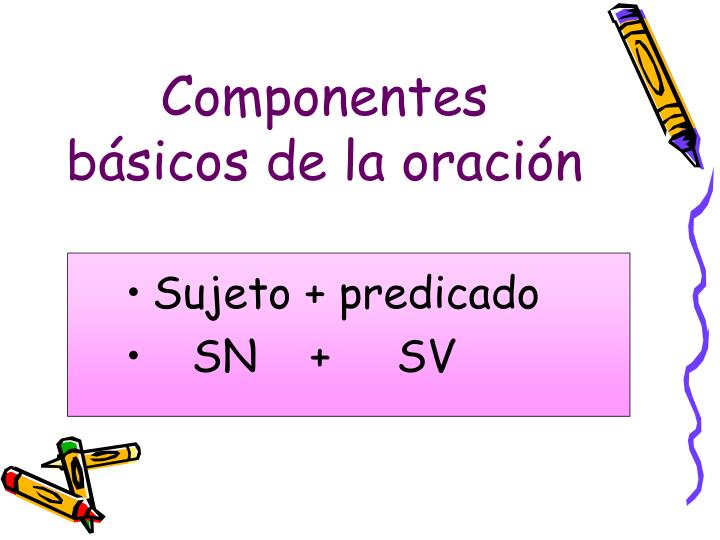 Componentes básicos de la oración