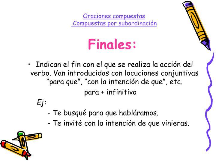 Finales: