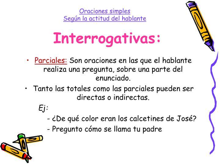 Interrogativas: