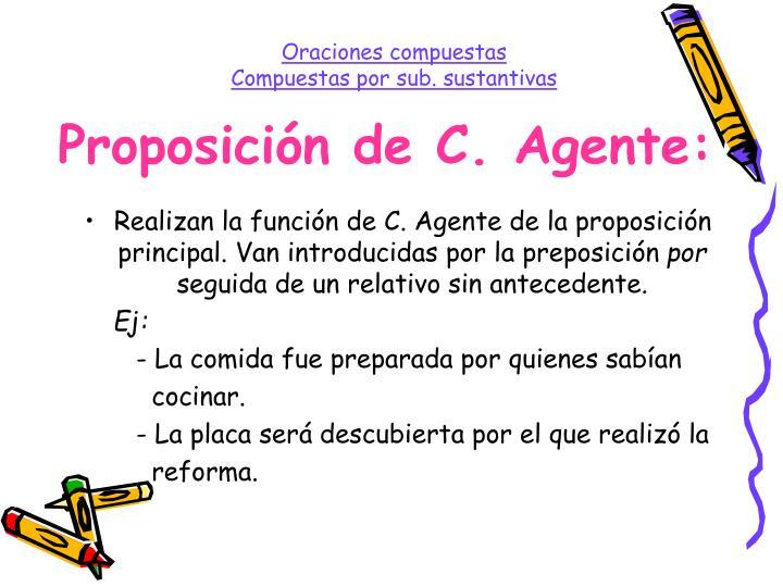 Proposición de C. Agente: