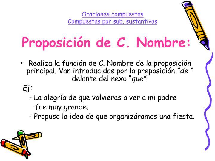 Proposición de C. Nombre: