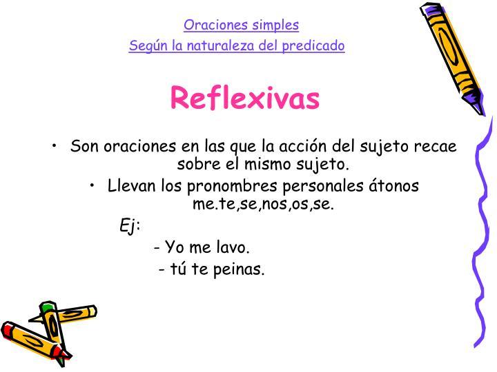Reflexivas