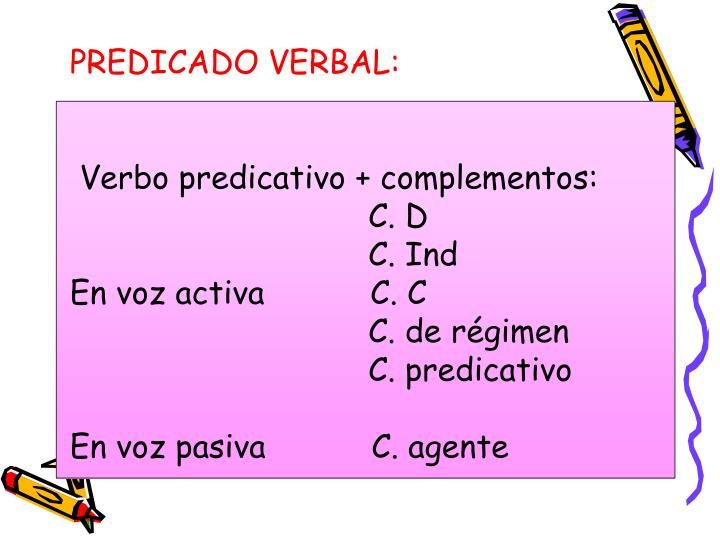 PREDICADO VERBAL: