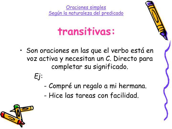 transitivas: