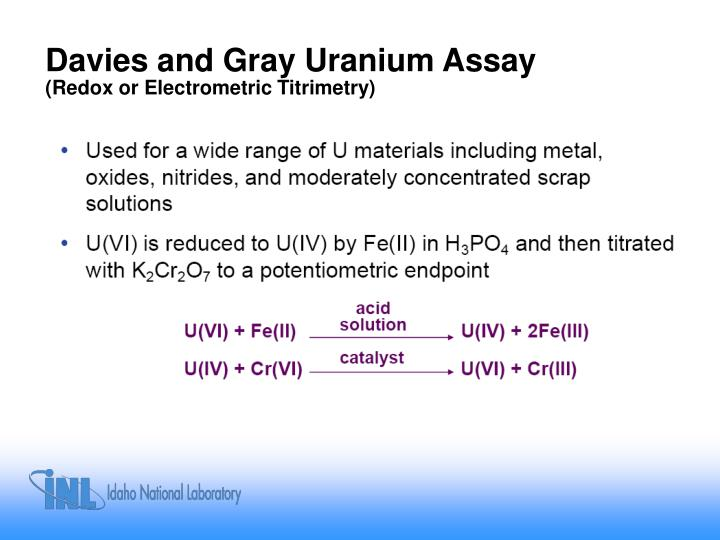 Davies and Gray Uranium Assay