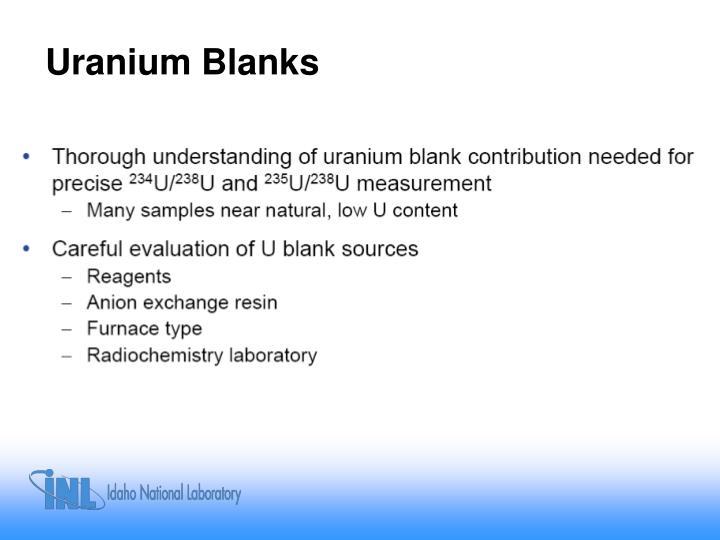 Uranium Blanks