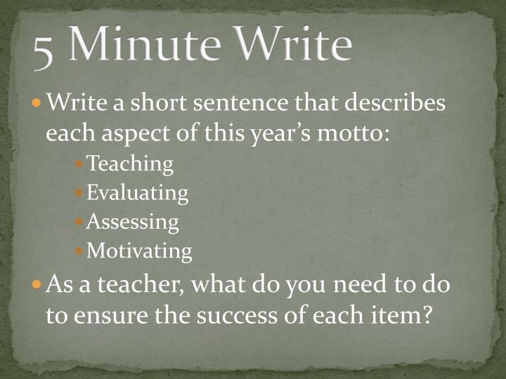 5 Minute Write