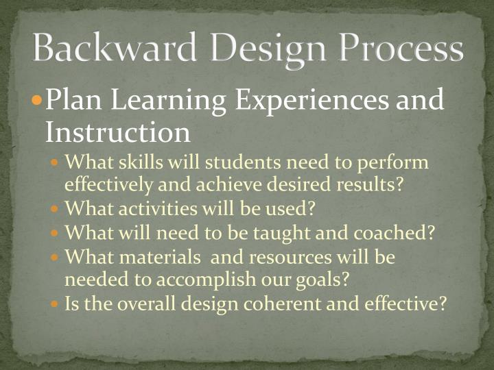 Backward Design Process
