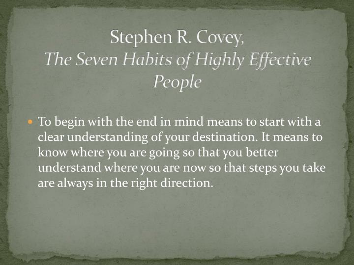 Stephen R. Covey,