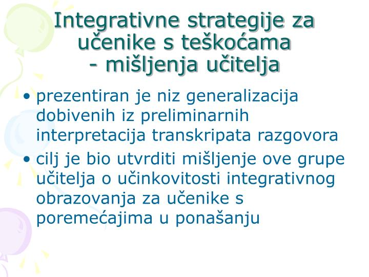 Integrativne strategije za uenike s tekoama