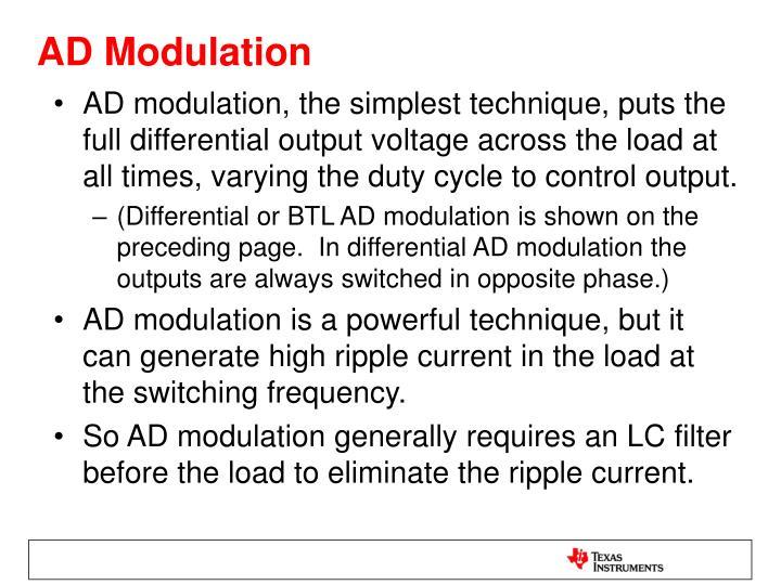 AD Modulation