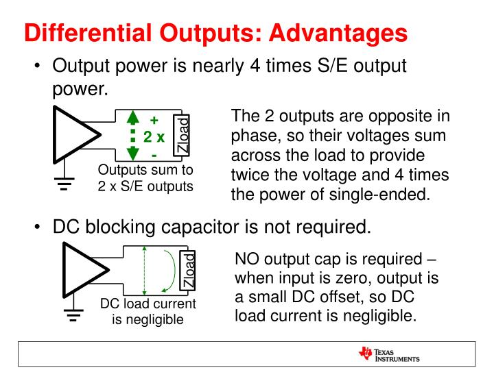 Differential Outputs: Advantages