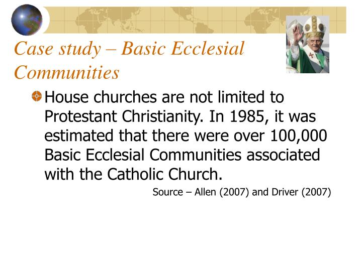 Case study – Basic Ecclesial Communities