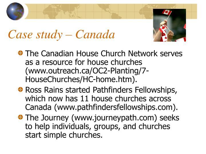 Case study – Canada