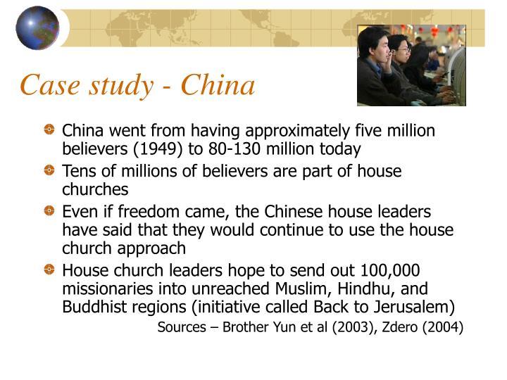 Case study - China
