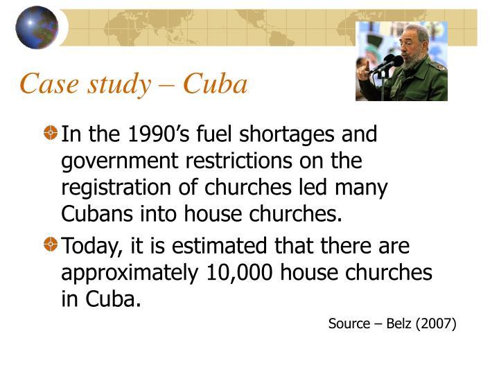 Case study – Cuba