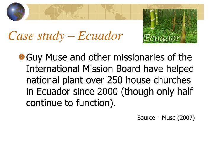 Case study – Ecuador