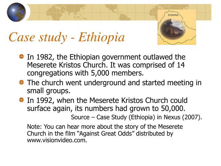 Case study - Ethiopia