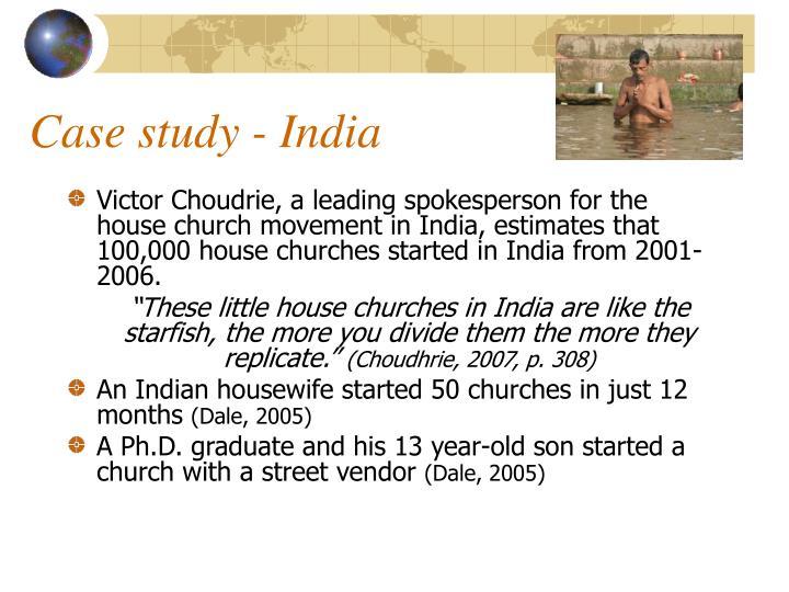 Case study - India