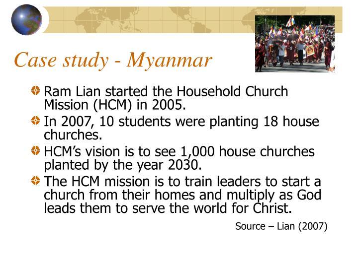 Case study - Myanmar