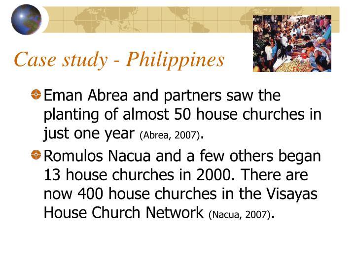 Case study - Philippines