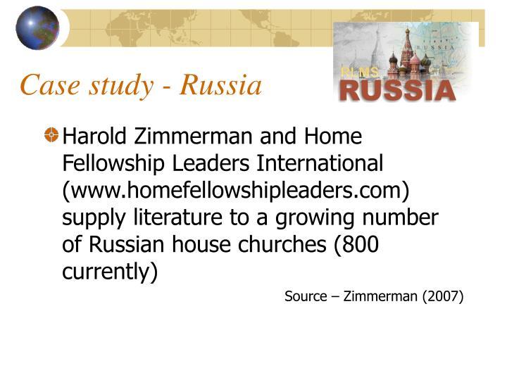Case study - Russia