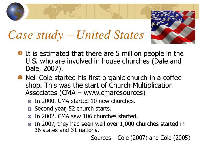 Case study – United States