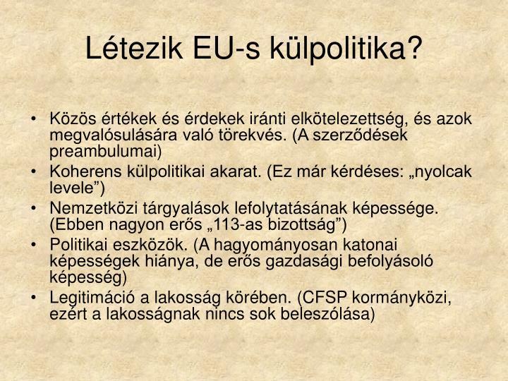 Létezik EU-s külpolitika?