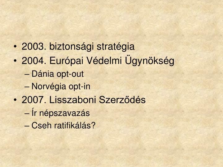 2003. biztonsági stratégia