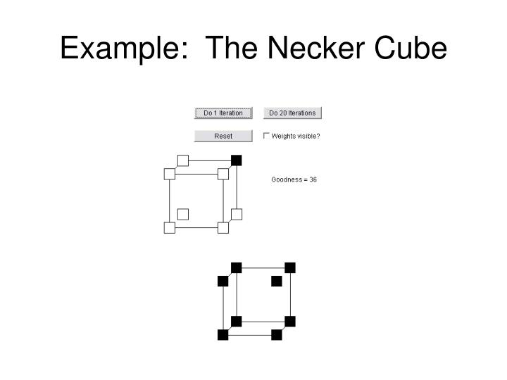 Example:  The Necker Cube