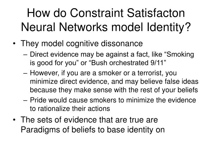 How do Constraint Satisfacton Neural Networks model Identity?