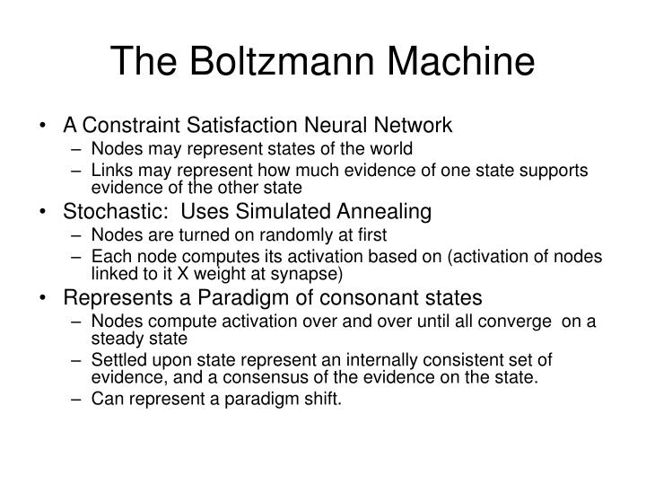 The Boltzmann Machine